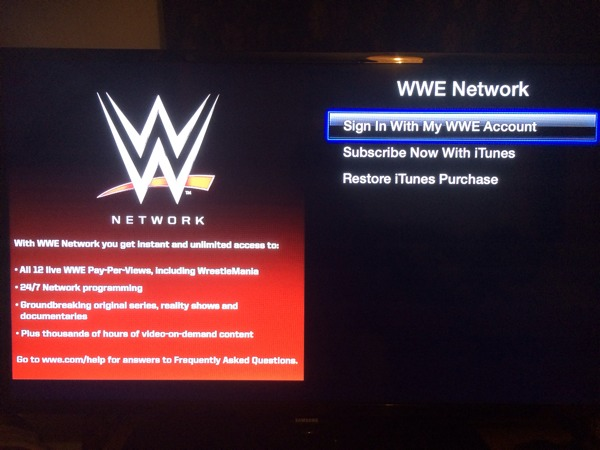 1393273025 First look : WWE Network Launches On Apple TV 6 months £39.99