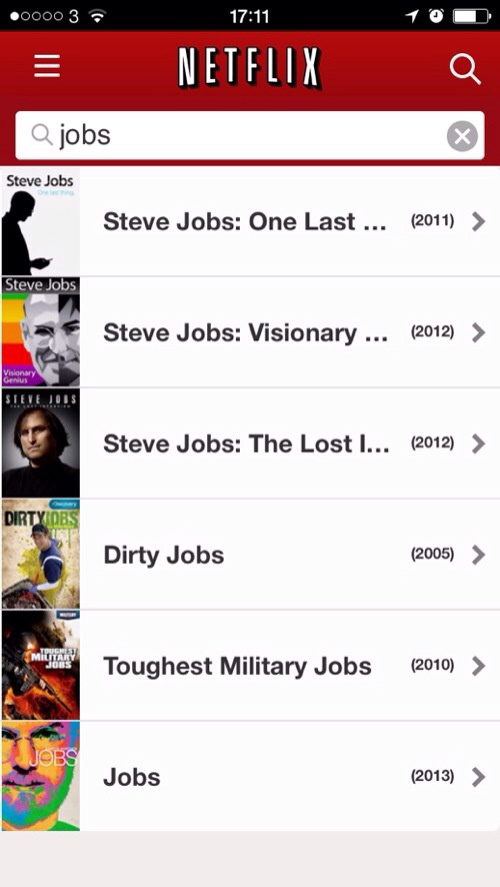 20140325 171357 jOBS now available on Netflix US
