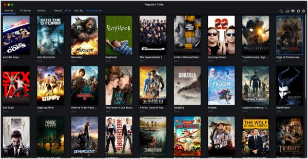 PopcornTime Content 600x310 Popcorn Time.  Stream movies from Torrents