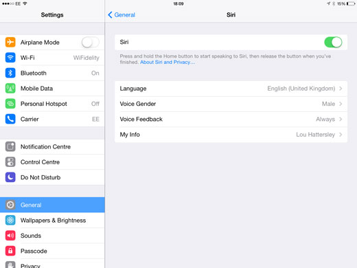 Siri Settings How To Get Back Siris Old Voices in iOS 7.1