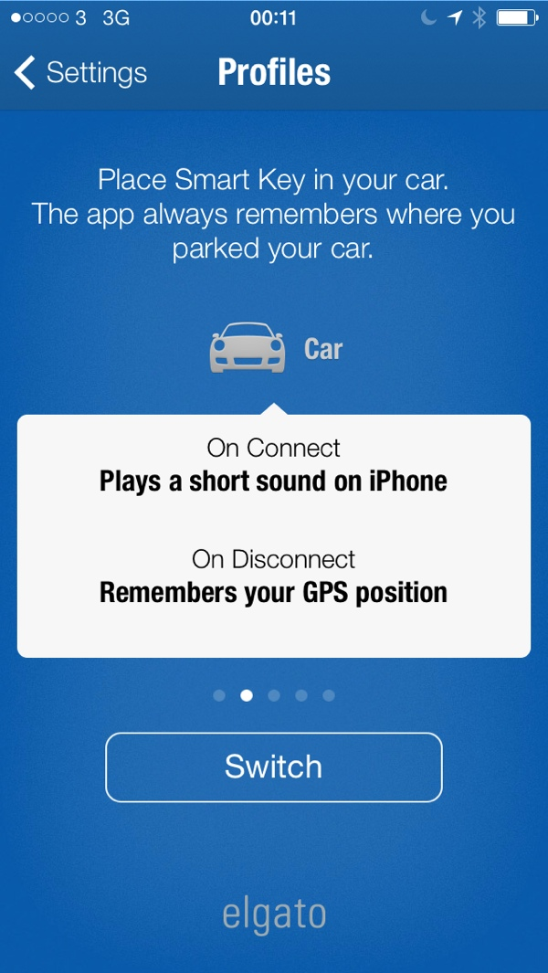 Menu Elgato Smart Key Profile Car Elgato Smart key Review : Never loose your keys again