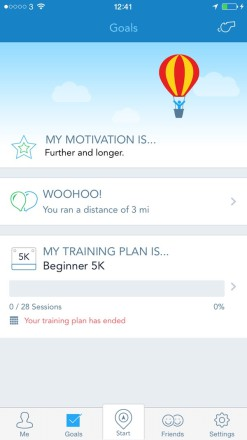 RunKeeper Motivation 247x440 Burn Off The Xmas Calories With The Best Running Apps for your iPhone