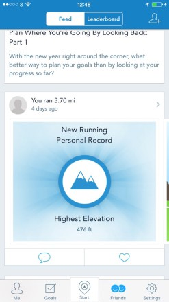 RunKeeper activity feed 247x440 Burn Off The Xmas Calories With The Best Running Apps for your iPhone