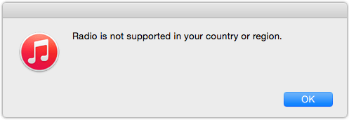 iTunes 12.2 Radio Is not Supported In Country Or Region thumb iTunes 12.2 Needed For Beats 1 But Missing In Action