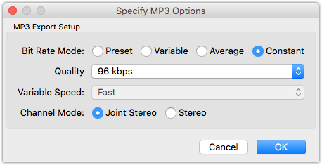 Audacity MP3 Export How to make your podcasts sound better with GarageBand