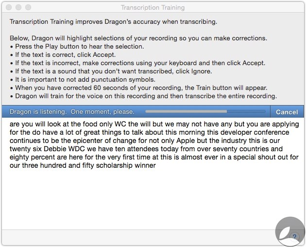 Dragon Transcription Training 1 Dragon Dictate 5 For Mac First Look At Transcription