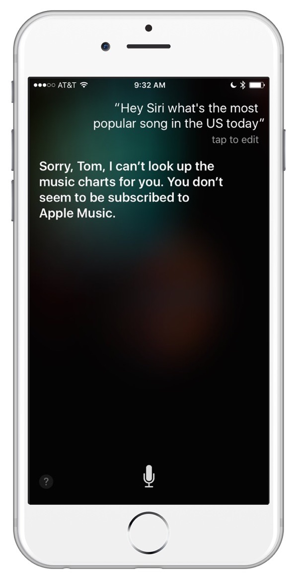 Siri won't tell you certain things, unless you pay for Apple Music