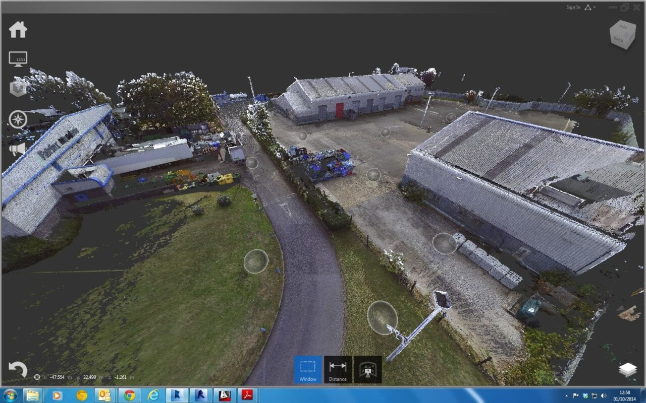Coloured Pointcloud of Industrial Site Access