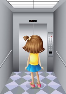 Girl in elevator by colematt