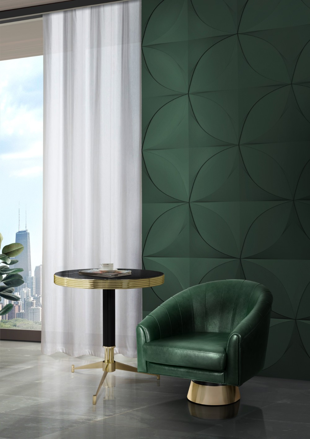 2018 Color Trends Rocking a Green Decor in Your MidCentury Home