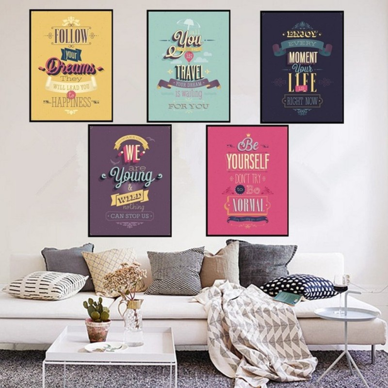 ideas for living room wall art colours 2016 decor 10 vintage lifestyle posters inspirations