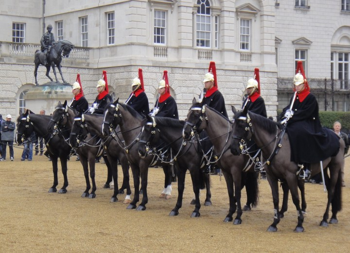 Queen's Life Guard on horseback