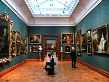 The interior of the National Portrait Gallery London