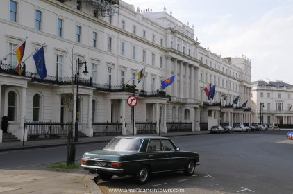 Mercedes in Belgrave Square