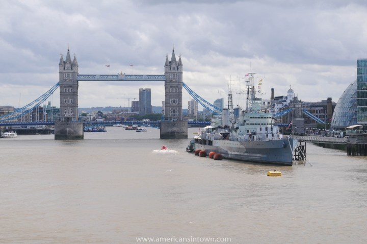 HMS Belfast – a Royal Navy cruiser in the 'Pool of London'