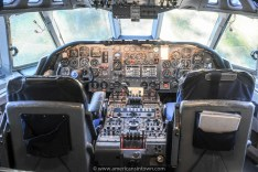 Cockpit of the VC-10, formerly owned by the Sultan of Oman