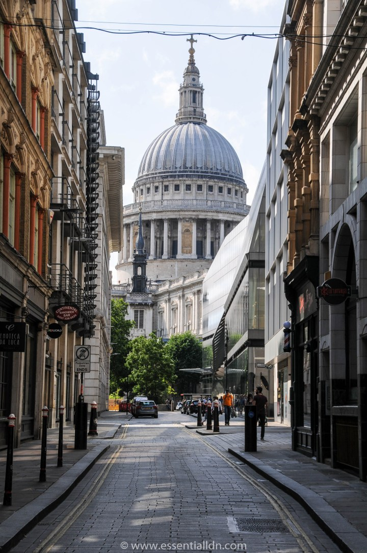 Watling Street and St Paul's Cathedral