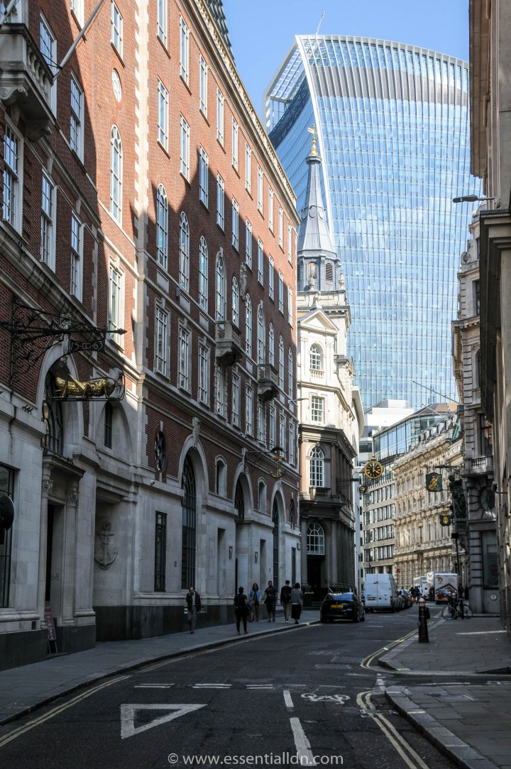 Lombard Street and 20 Fenchurch Street