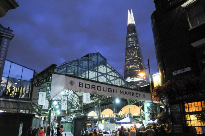 Borough Market at dusk