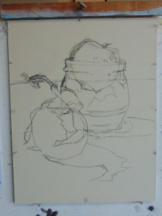 Closer view of the sketch