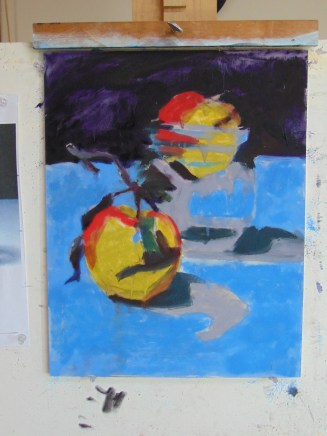 Completed underpainting.