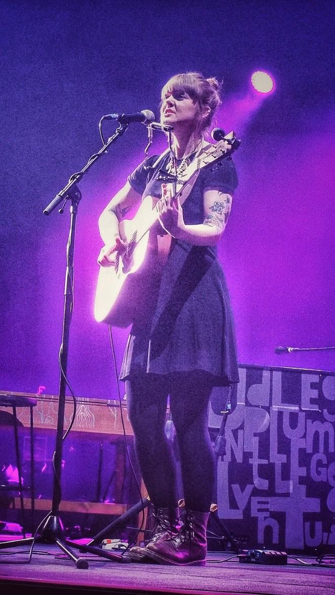 Jess Morgan at London's O2 Arena 14 February 2018. Photo credit: Lisa Hafey