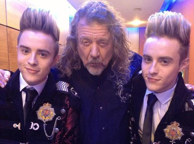 John and Edward with Robert Plant Backstage At RTÉ In 2013