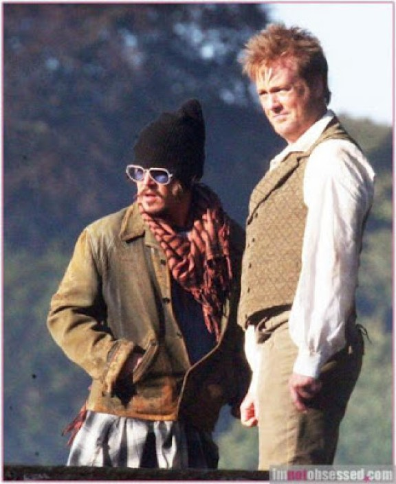 Johnny Depp and Stephen Jones