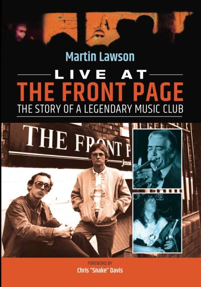 Live At The Front Page cover design
