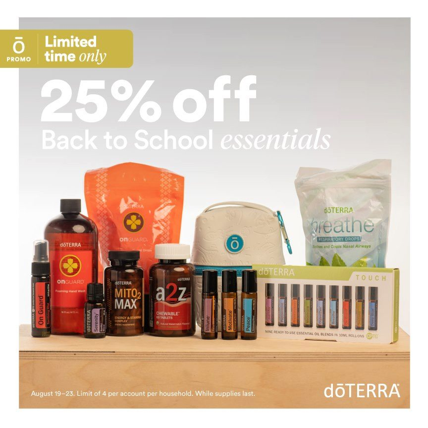 Flash Sale – Back to School Essentials 25% Off!