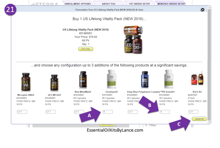 doterra enrollment form 21v2