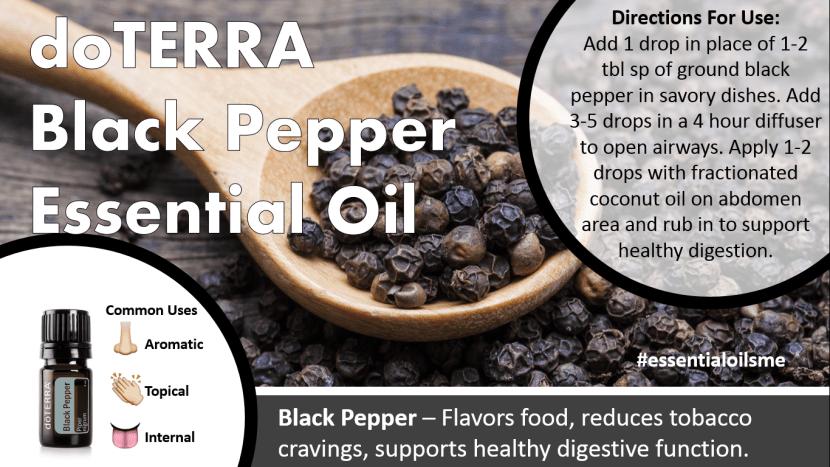 doterra black pepper essential oil