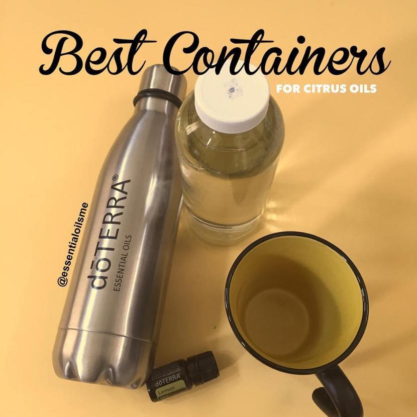 stainless steel water bottle for citrus oils