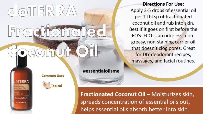 doterra fractionated coconut oil