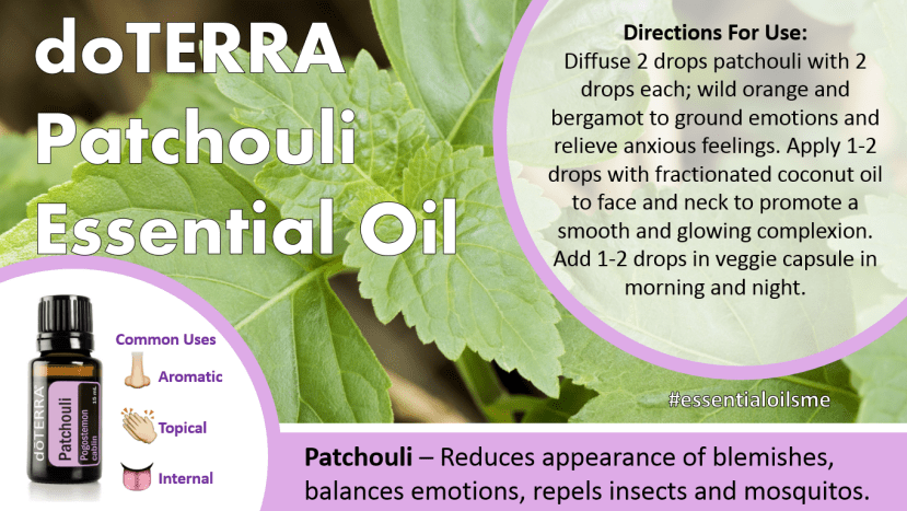 doterra patchouli essential oil