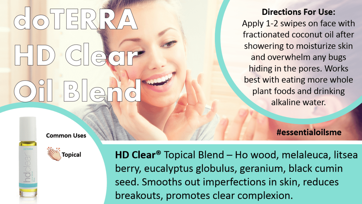 doTERRA HD Clear Oil Blend Uses