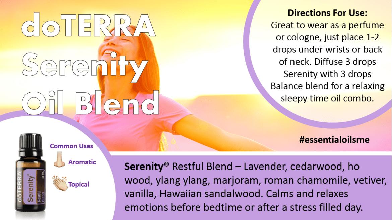 doterra serenity oil blend
