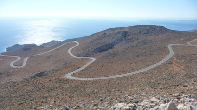 A road in south Crete symbolising the turns in our life