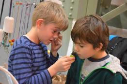 Future generation enjoying aromatherapy oils