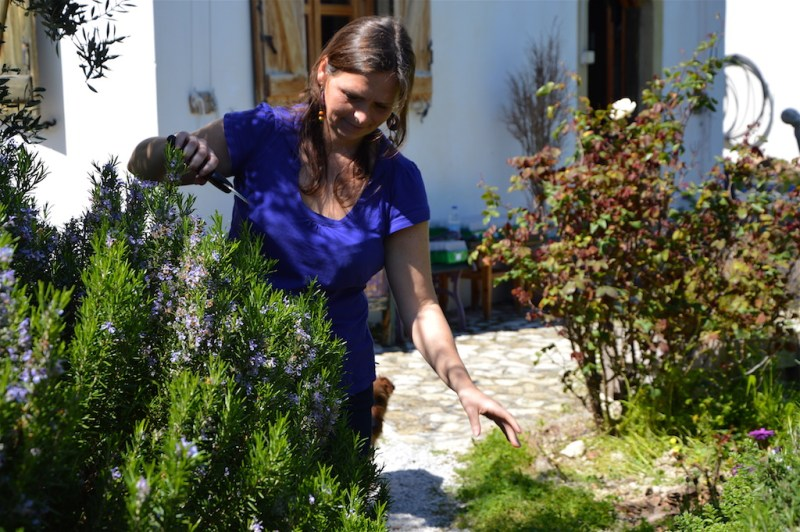 Ildiko as a rosemary hairdresser on Crete, March 2017