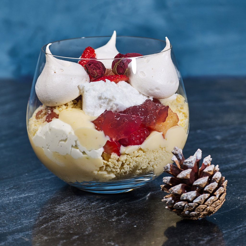 Spiced Poached Plum and Stone Fruit Trifle