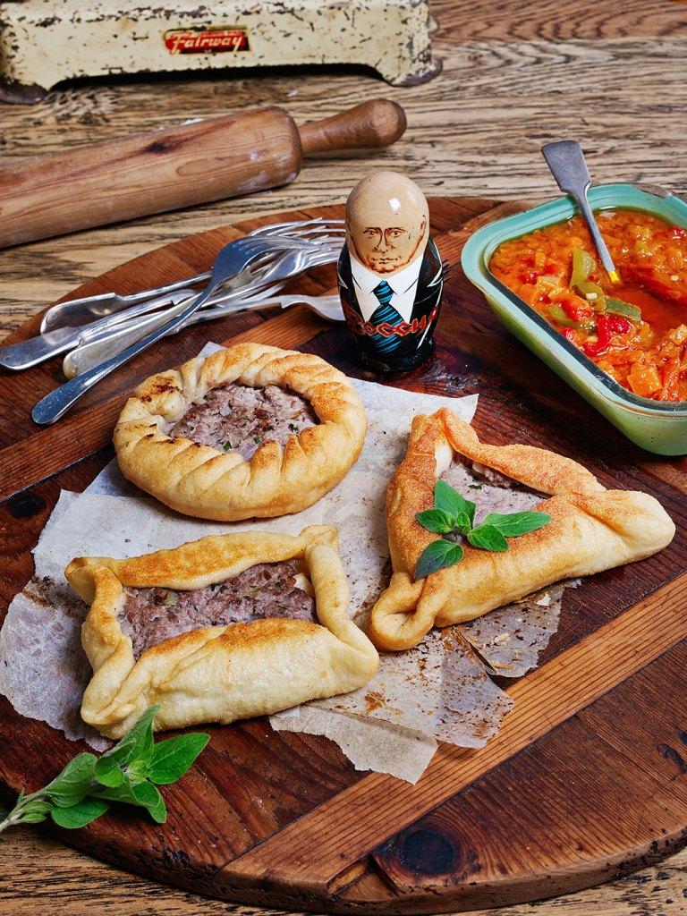 Belyashi (Russian Pies) with Lecho