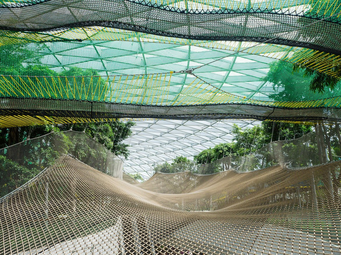 Jewel Changi Airport's Manulife Sky Nets are walking nets straddle a five-storey void, making them best reserved for true thrill seekers.