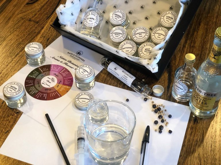 The at-home gin masterclass kit features native Australian botanicals