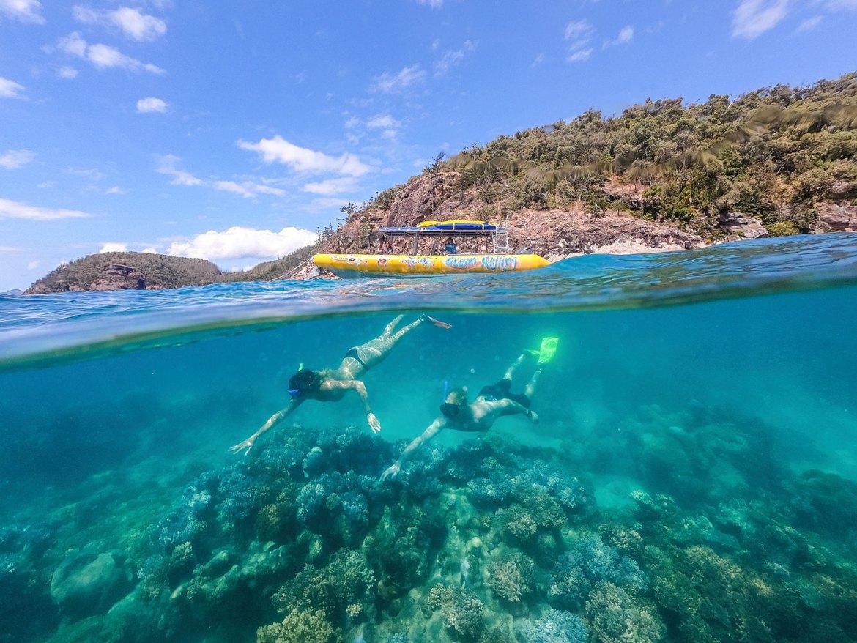 Snorkeling off Teague Island