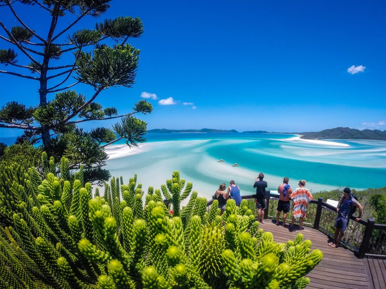 Ocean Rafting, Whitsundays: View over Hill Inlet & Whitehaven Beach