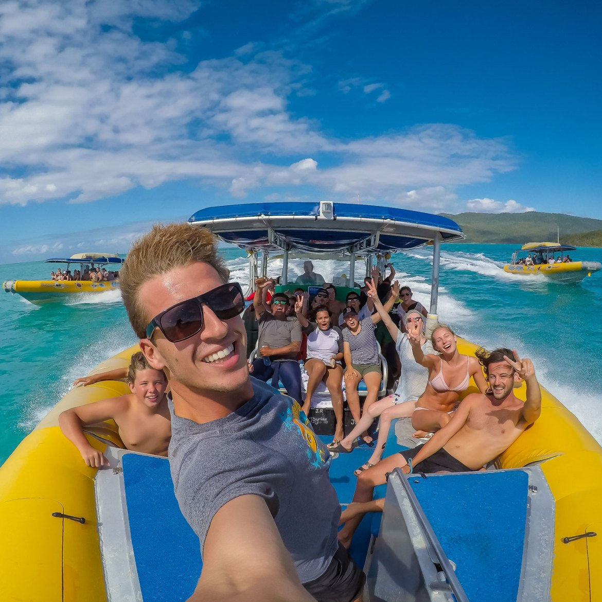 Riding the swells - Ocean Rafting Whitsundays
