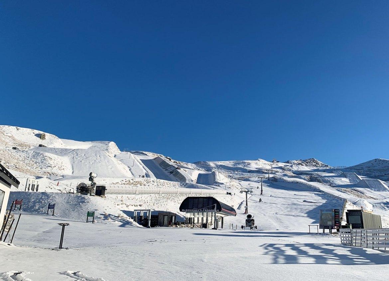 Recent snow covering at Cardrona Alpine Resort