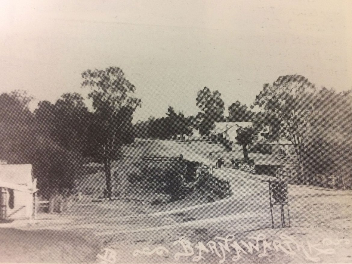 Barnawartha High Street, looking west. Early image, date unknown