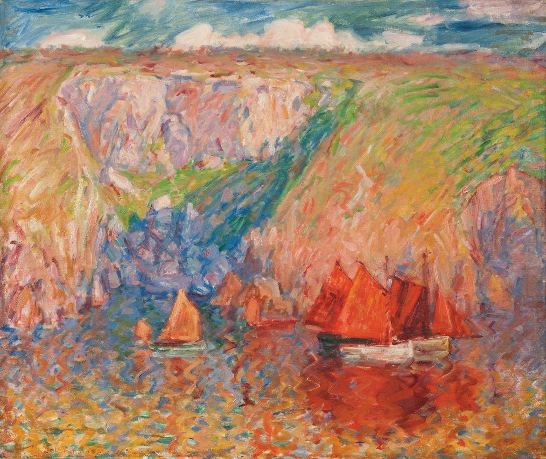 John Peter Russell Fishing boats, Goulphar, 1900